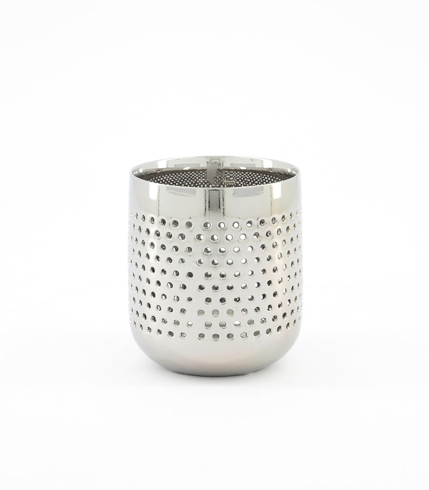 Lighthouse Candle Holder, Silver