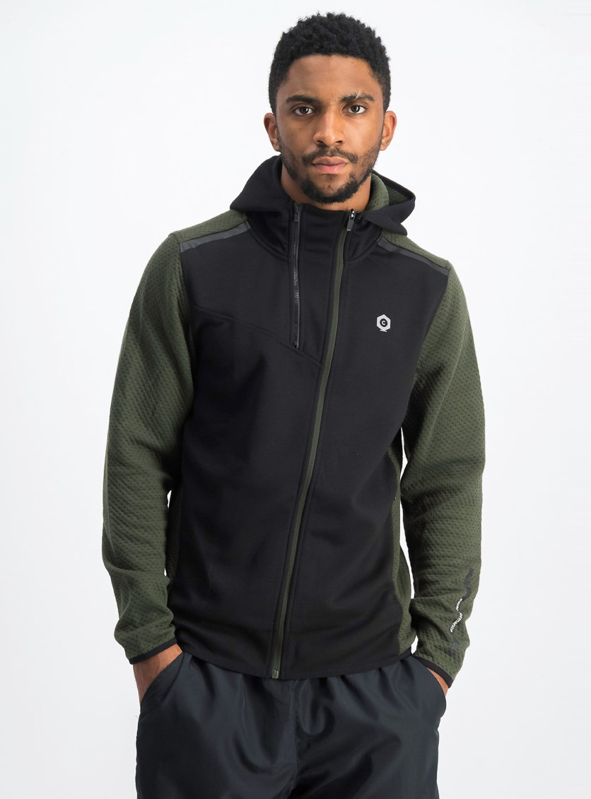 Men's Hoodie Sweater, Black/Green