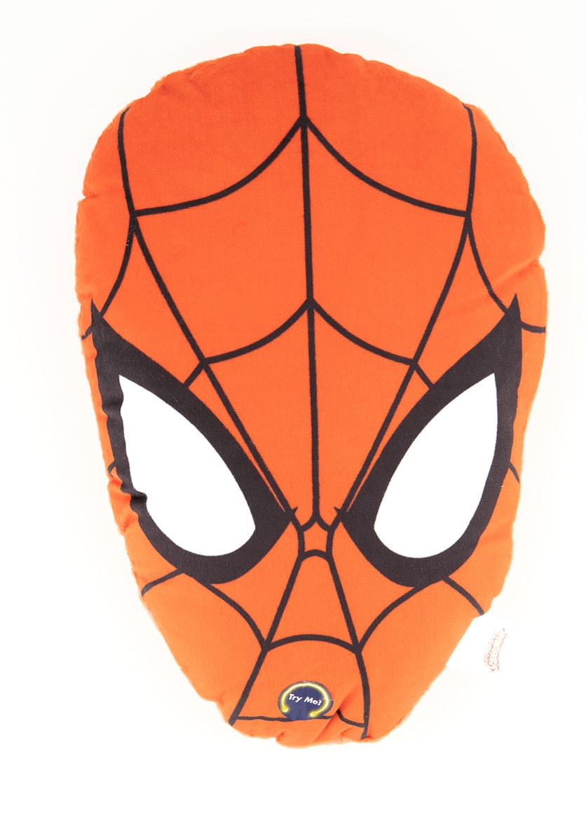 Spiderman Head Shape Plush With Led 36 cm, Red