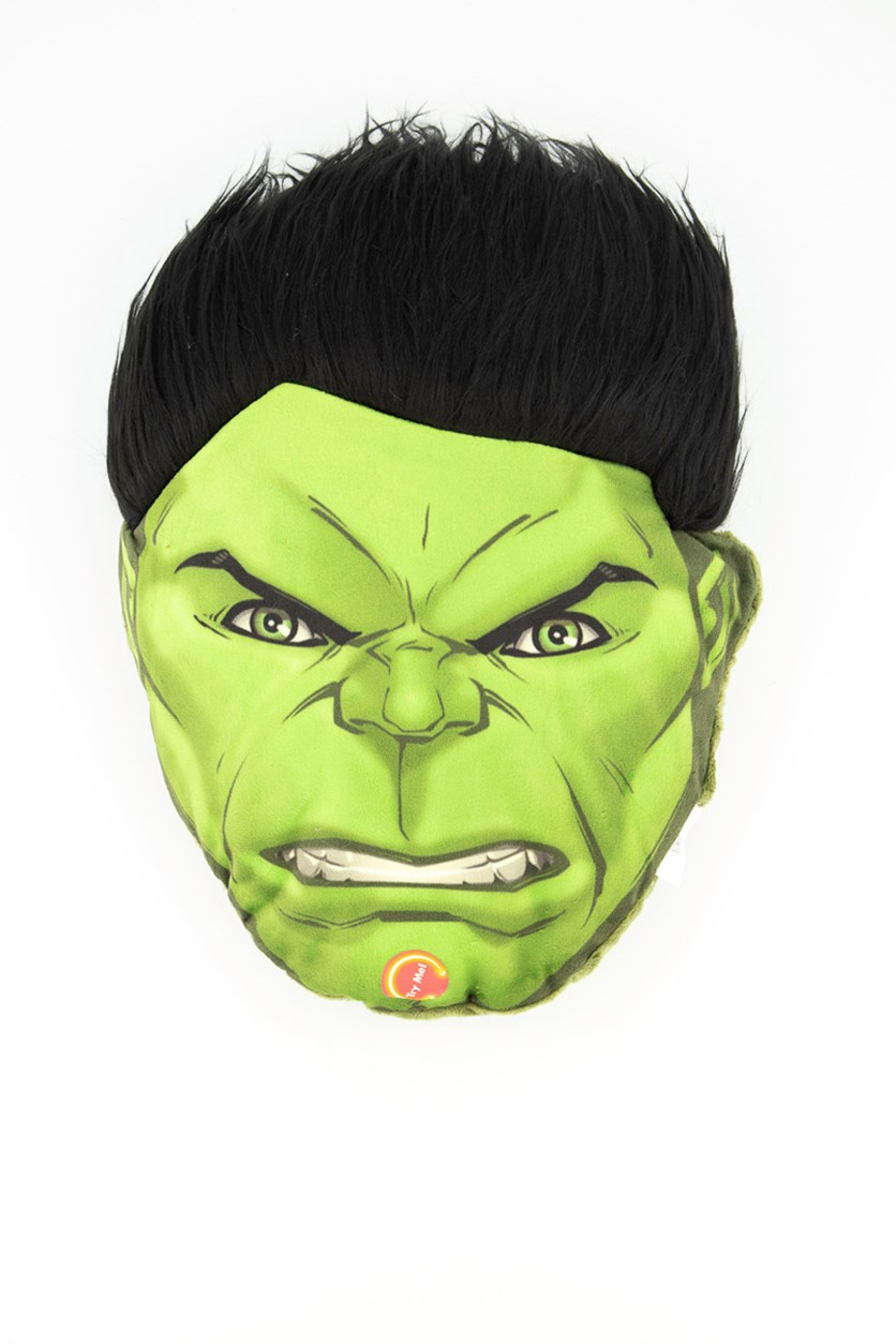 Avengers Hulk Head Shaped Plush With Led, Black/Green