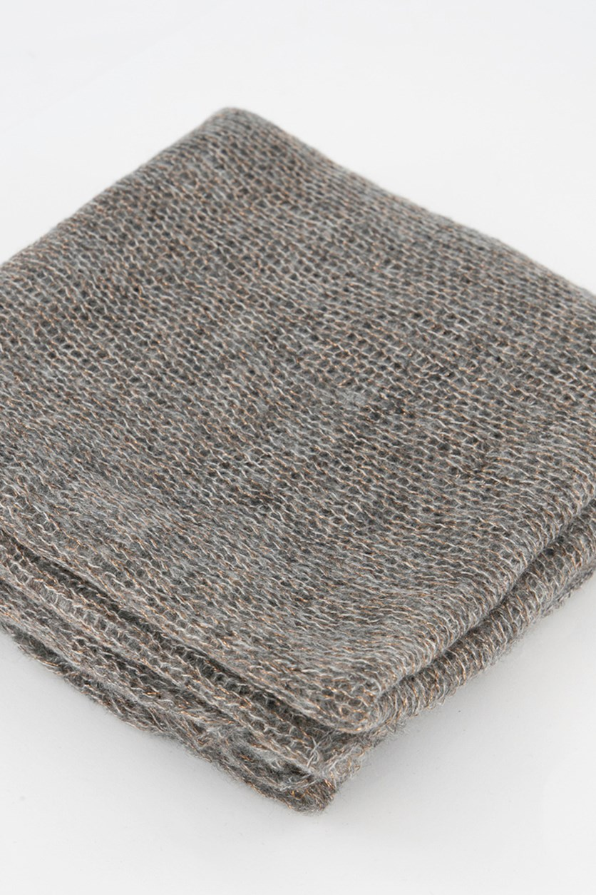 Women's Knitted Scarf, Gray