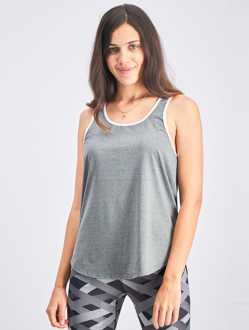 Womens Racerback Top, Grey