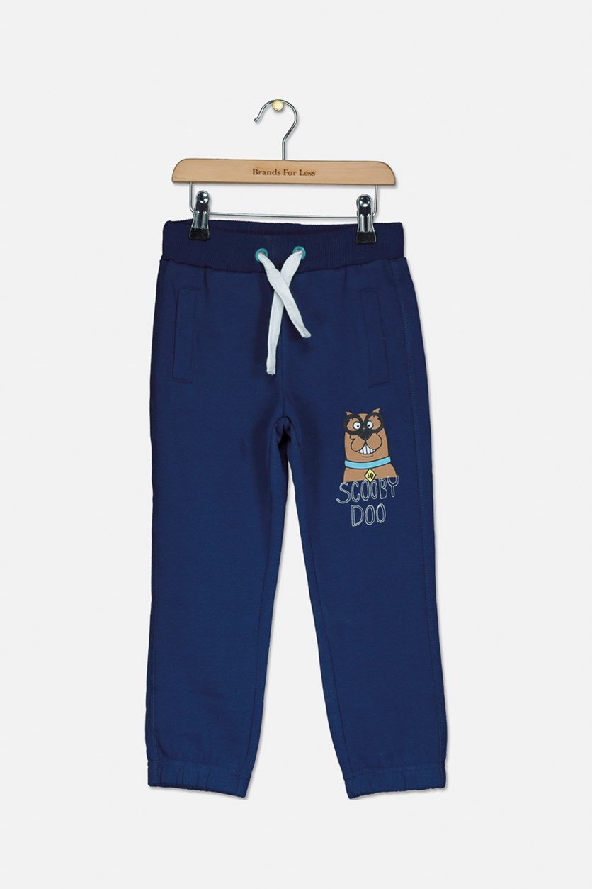 Kids Boys Scooby Doo Drawstring Pants, Navy/White