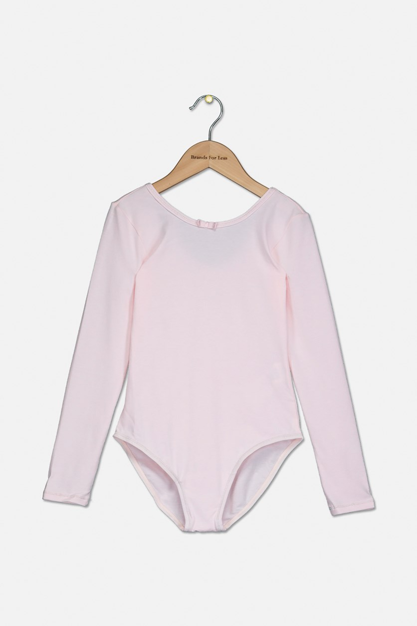 Kid's Girl's Bodysuit Long Sleeve, Pink