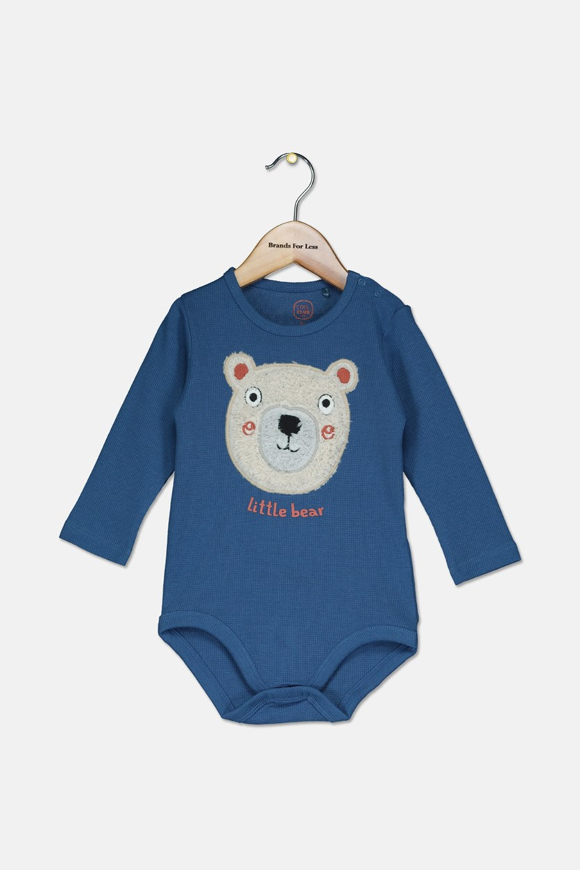 Toddler Boy Little Bear Bodysuit, Blue