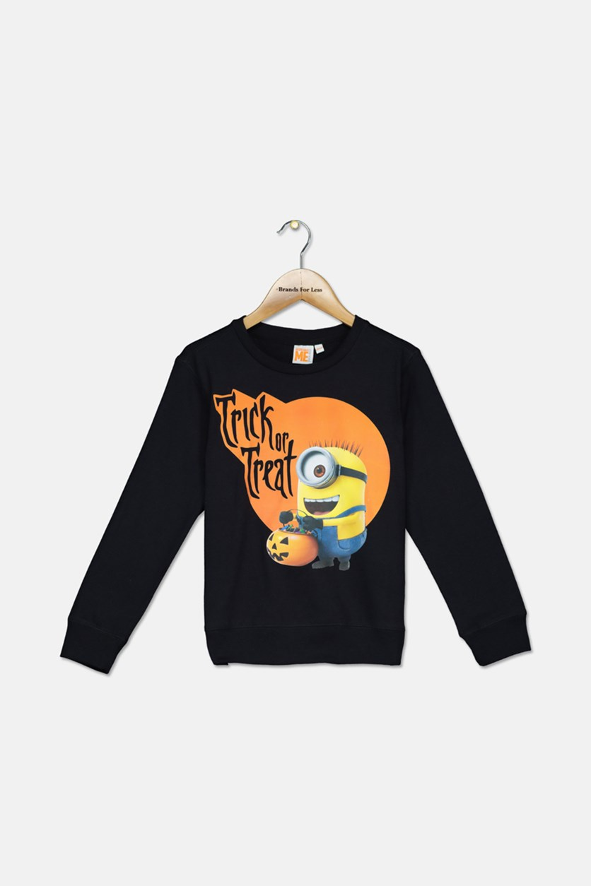 Kids Boys Trick Or Treat Sweater, Black