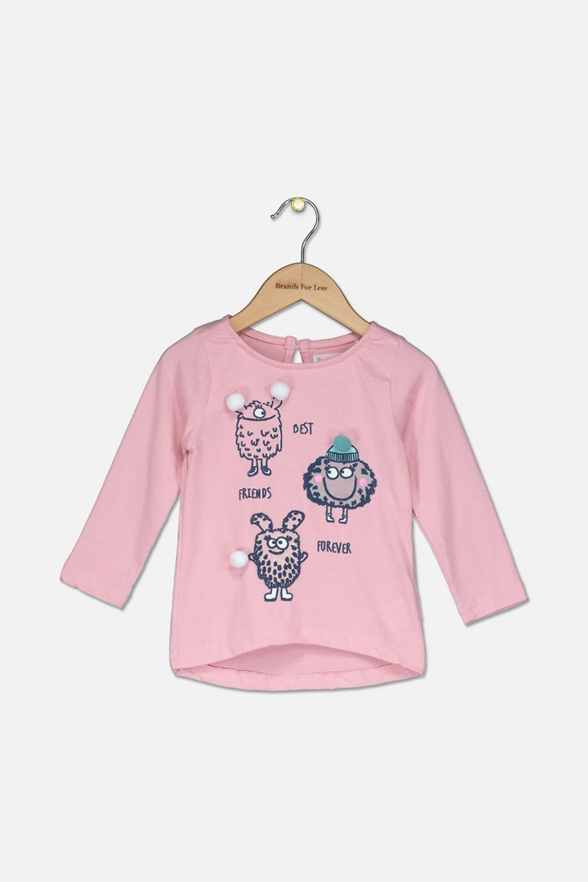 Toddler Girls Friends Forever Top, Pink