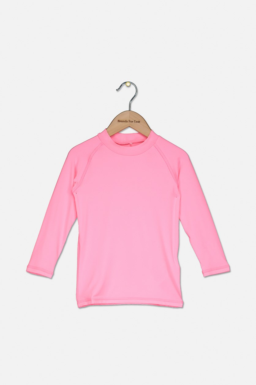 Toddler Girls Thermal Top, Neon Pink