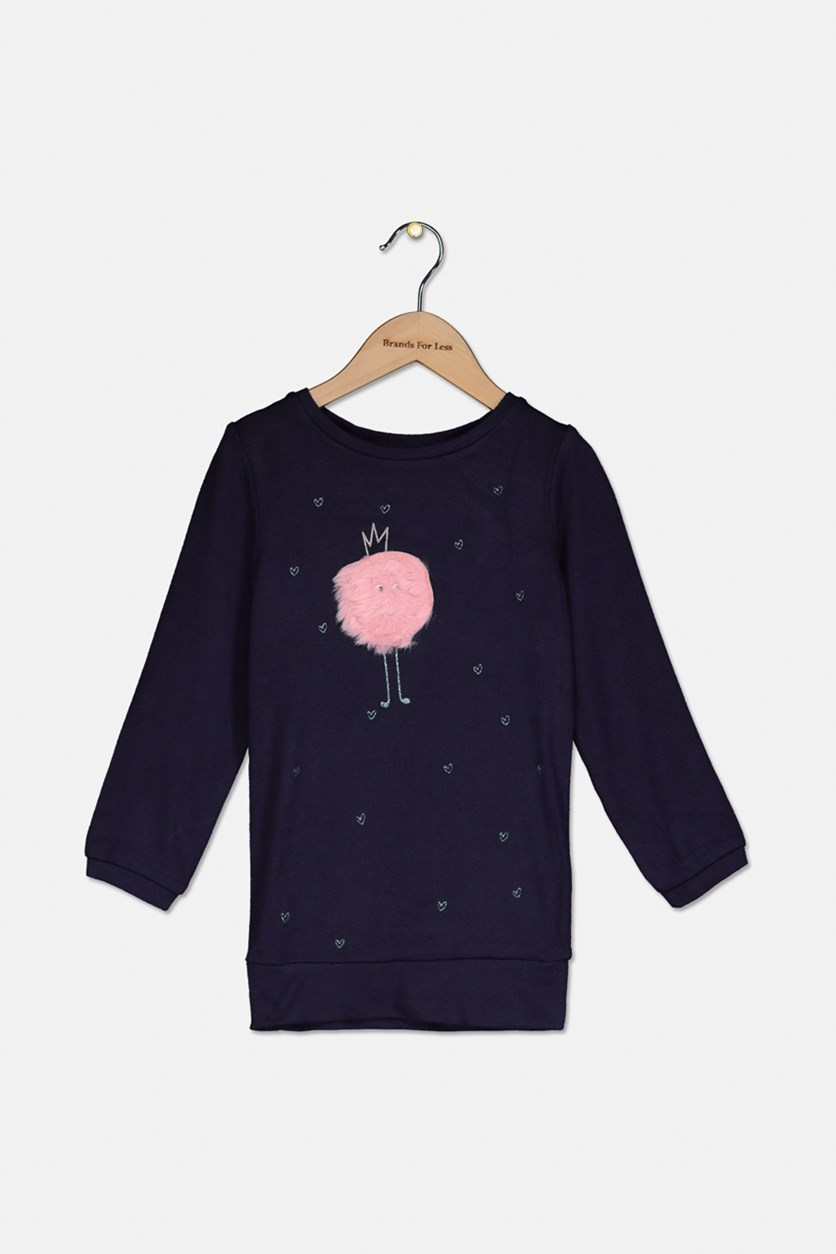 Baby Girl's Pullover Sweater, Navy Blue