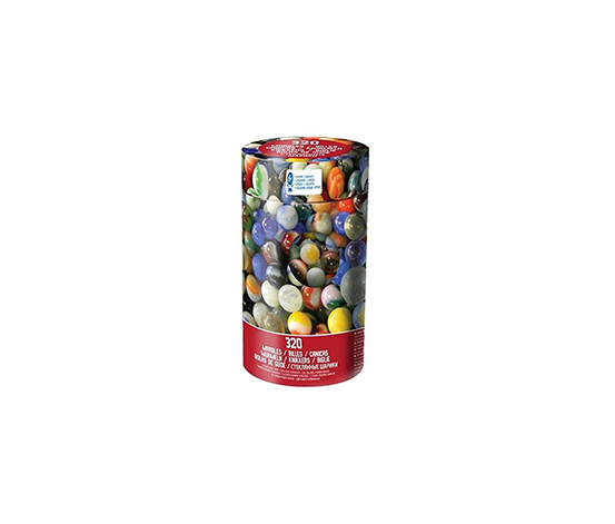 Spin Master Colored Glass Marbles, White/Green/Yellow
