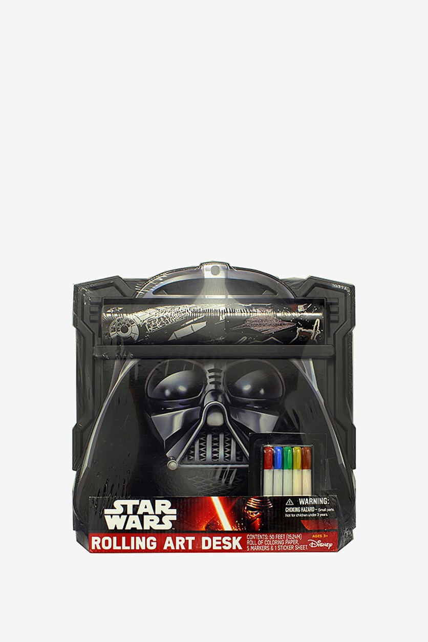 Darth Vader Rolling Art Desk, Black