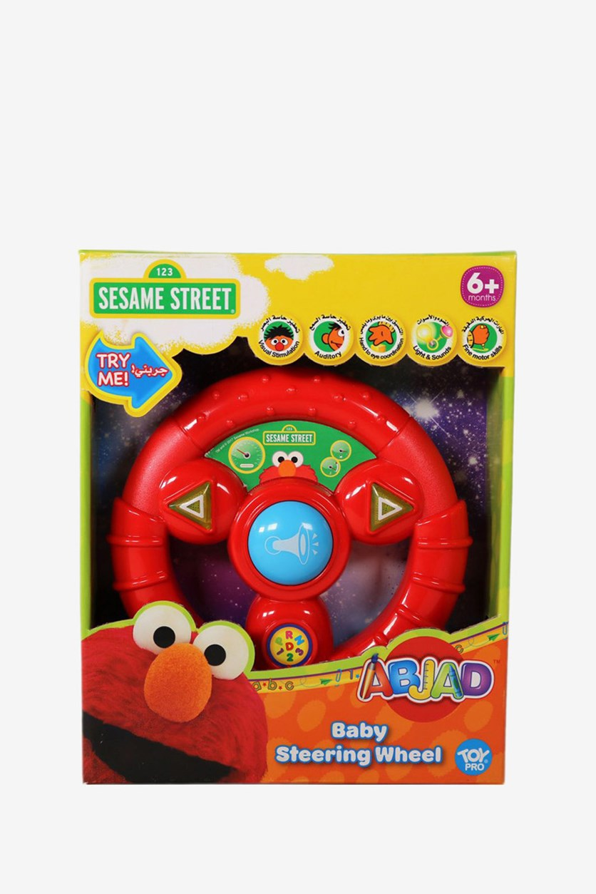 ABJAD Baby Steering Wheel Music Toy, Red Combo