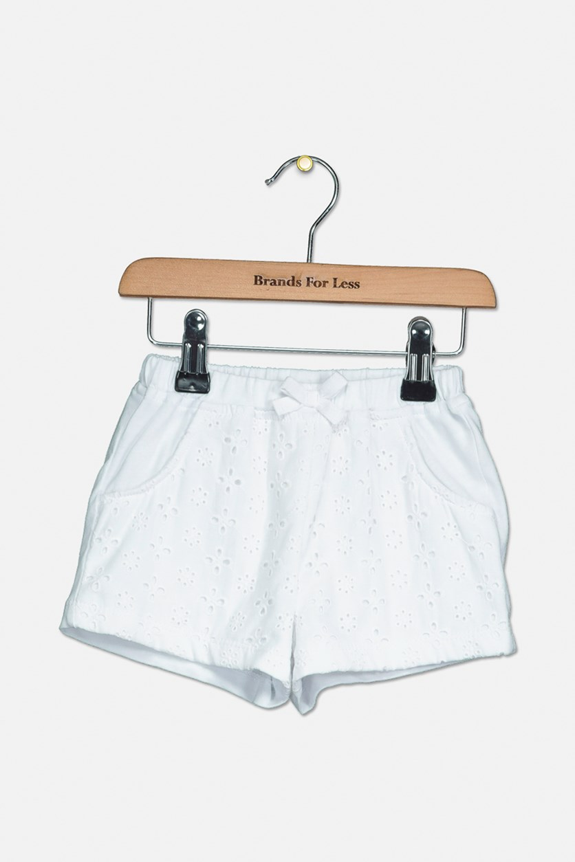 Cotton Eyelet Shorts, Bright White