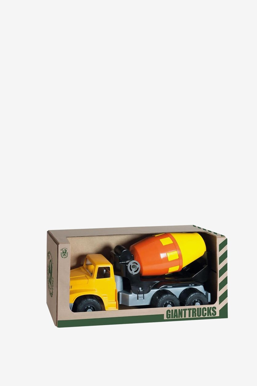 Giant Trucks Cement Mixer Vehicle Toy, Yellow/Orange