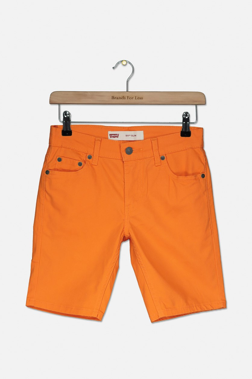 511 Kids Boys Sueded Shorts, Orange