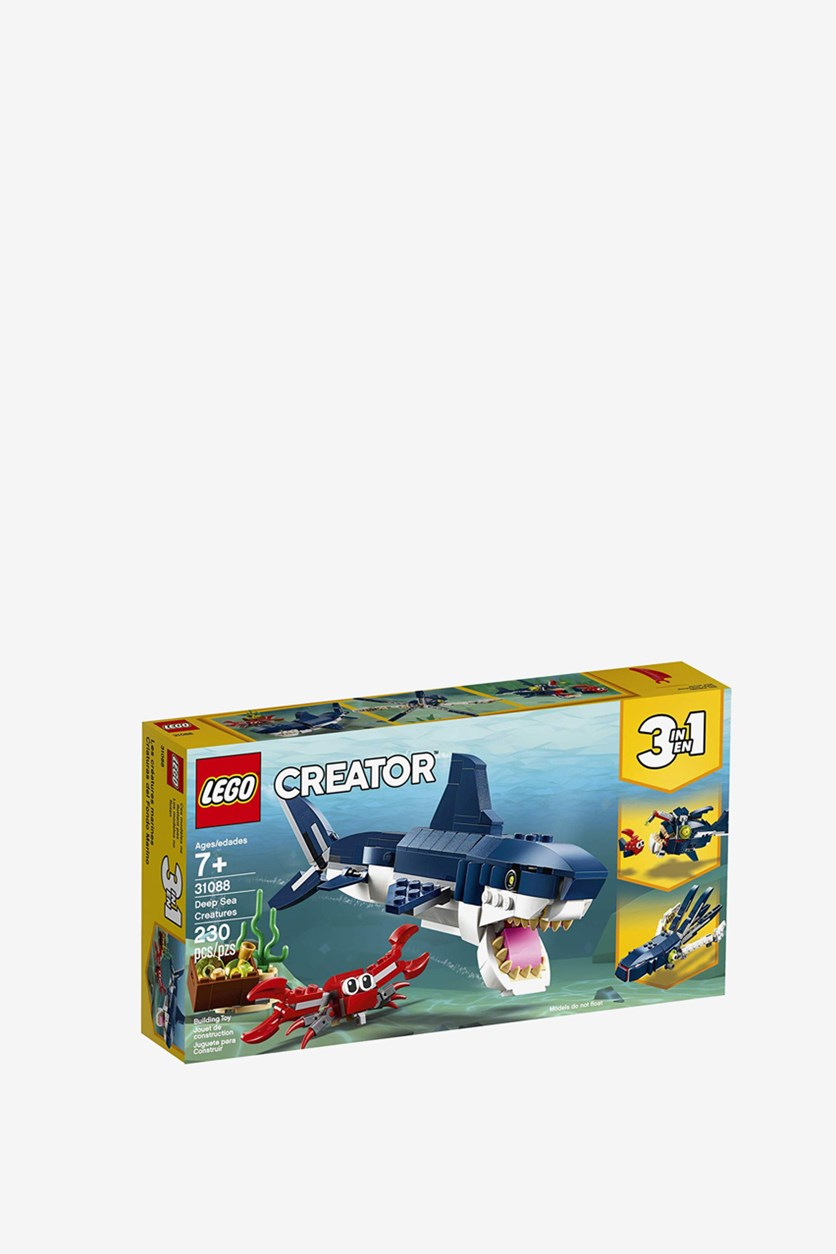 Creator 3 in 1 Deep Sea Creatures Building Kit, Blue Combo
