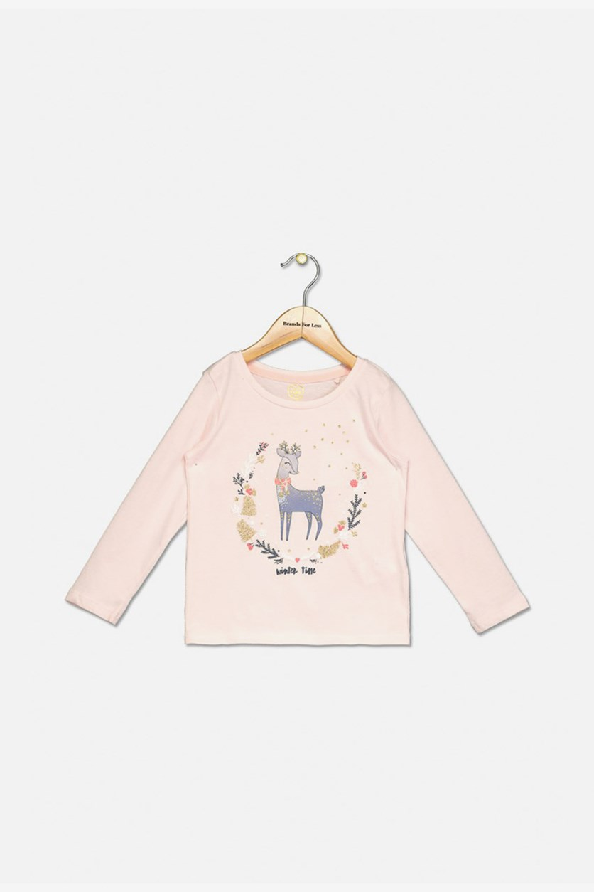 Big Girls Long Sleeve Tops, Pink
