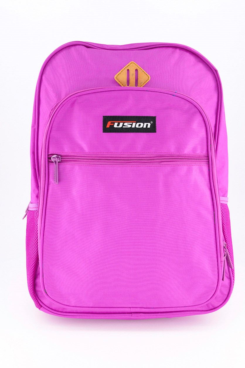 Men's Plain Backpack, Purple