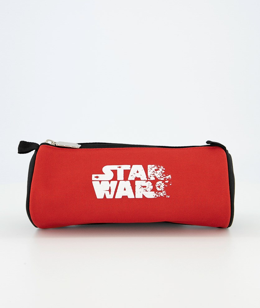 White Logo Pencil Case, Red/Black/White