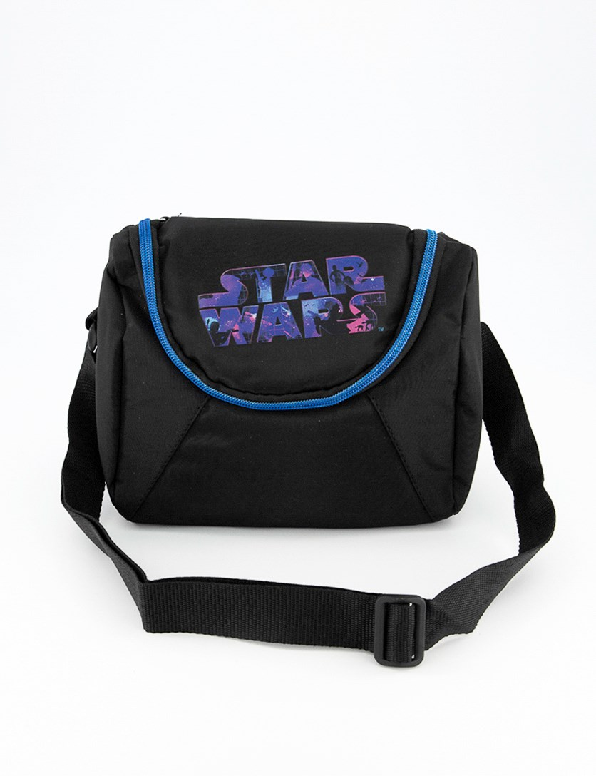 Star Wars Logo Blue Lunch Bag, Black