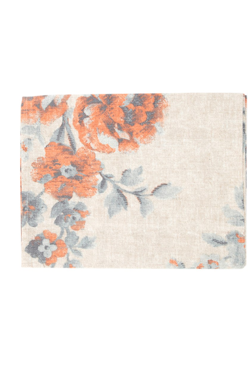 Sea Spray Persia Table Runner, Coral/Offwhite