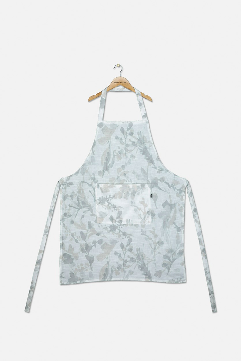 Pioneer Floral Apron, White/Grey