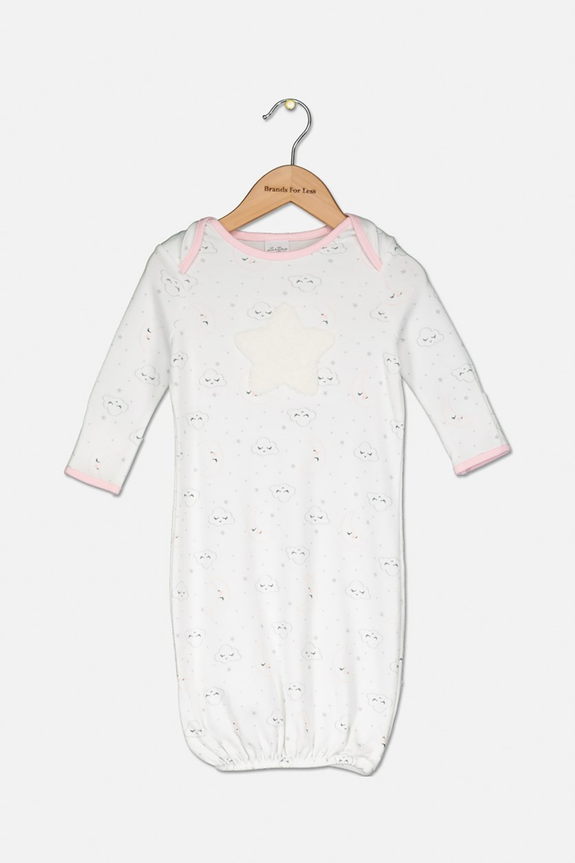 Toddler Girl's Sleepwear 1 pc, White/Pink