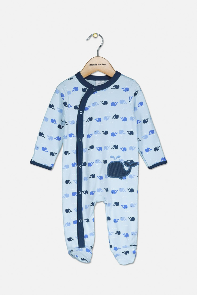Toddler Boys Dolphins Printed Bodysuit, Blue