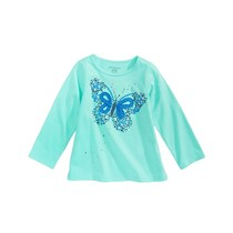 First Impressions Sweet Chic Butterfly Long-Sleeve T-Shirt, Blue