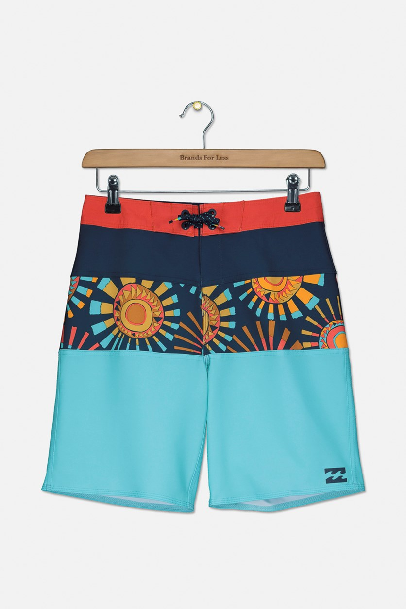 Boys' Big Tribong X Boardshort, Mint Combo