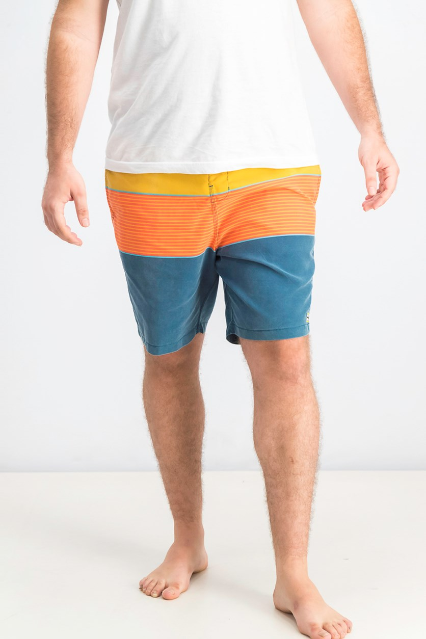 Men's Billabong Tribong Layback Board Shorts, Orange Combo