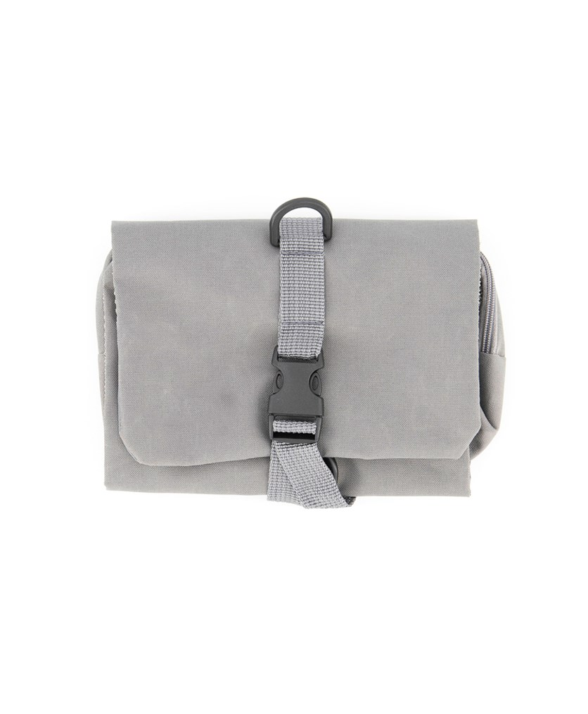 Folding Toiletry Bag, Grey