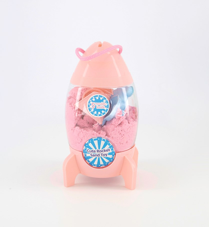 Cute Rocket Sand Toy, Pink