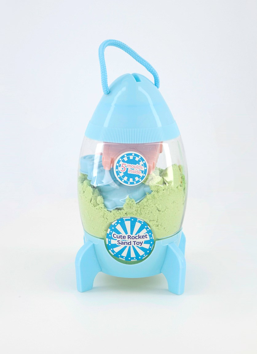 Cute Rocket Sand Toy, Turquoise