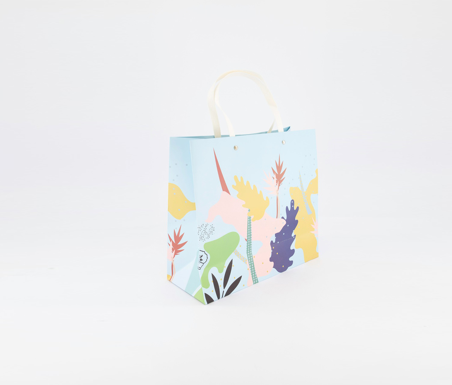 Gift Bag-S, White/Blue