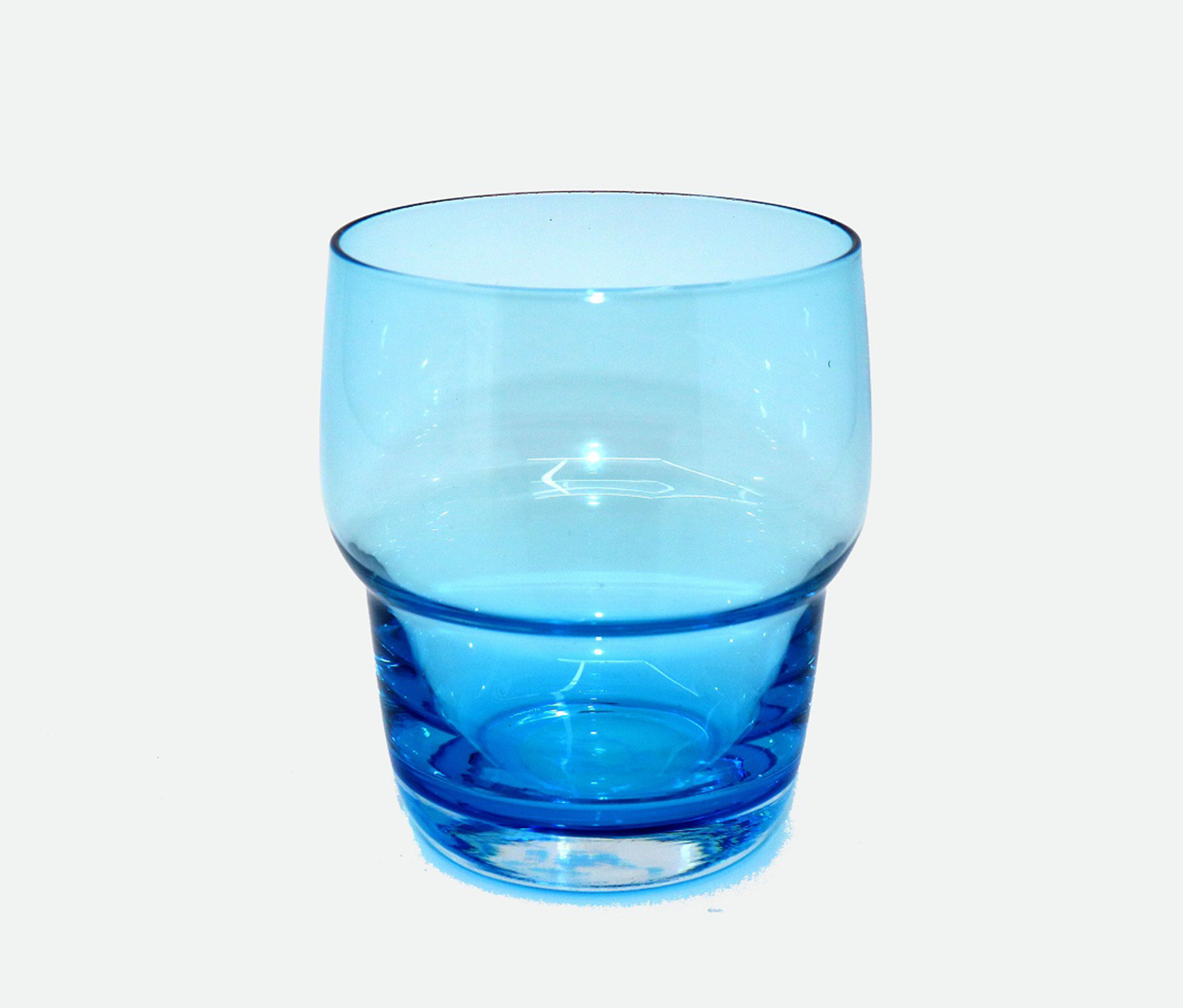 Tinted Glass Cup, Blue