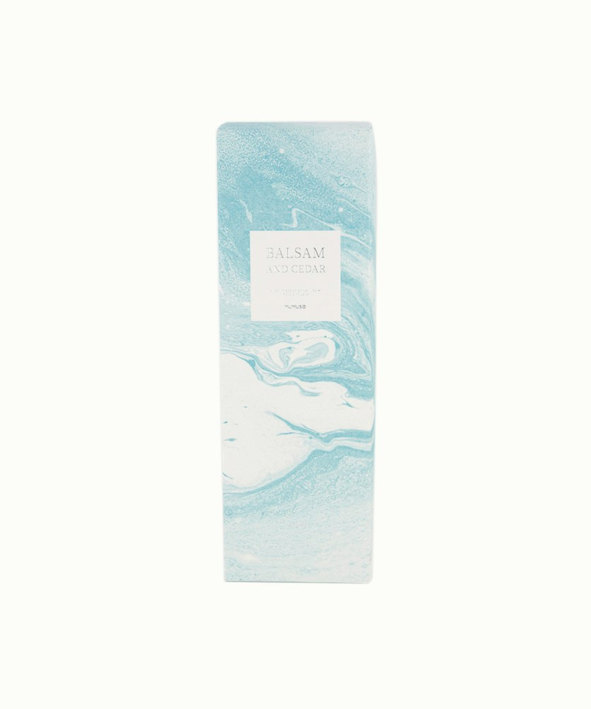 Balsam And Cedar An Embrance Of Nature Reed Diffuser, White/Turq