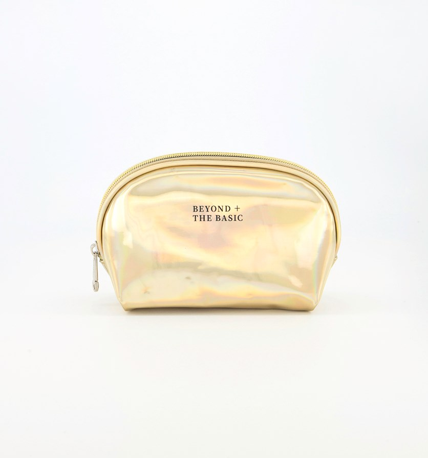 Laser Cosmetic Bag, Gold