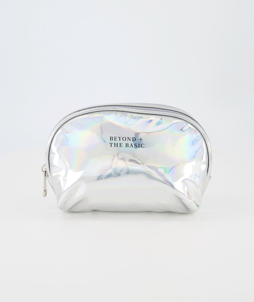 Laser Cosmetic Bag, Silver