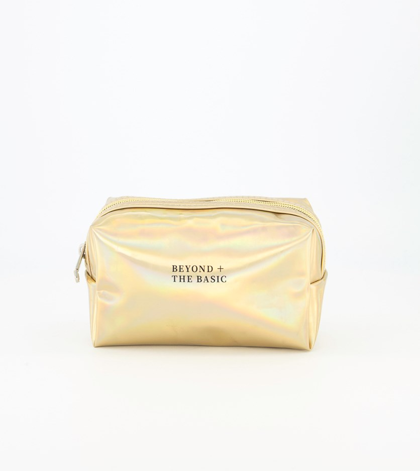 Laser Cosmetic Bag, Golden