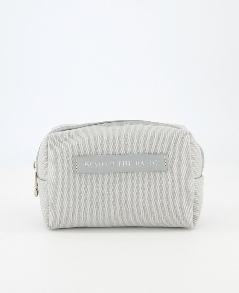 Canvas Cosmetic Bag, Grey