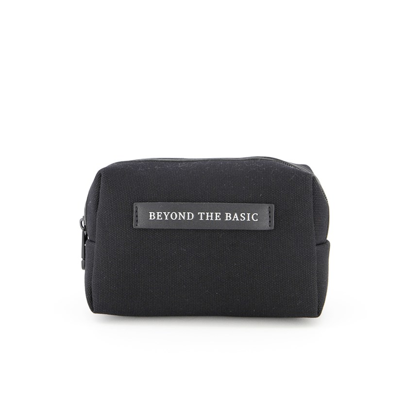 Canvas Cosmetic Bag, Black