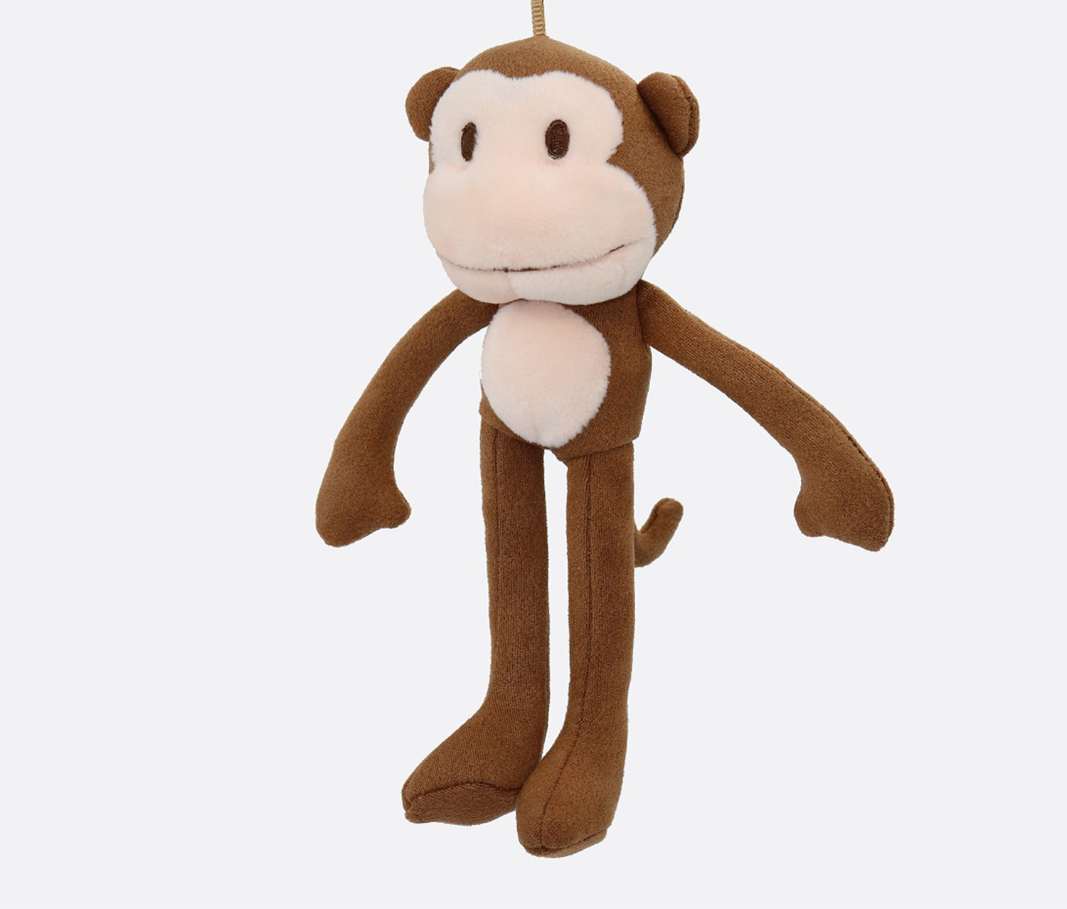 Bag Pendant Monkey With Long Legs, Brown