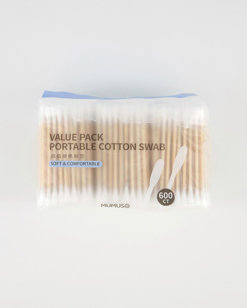 Soft & Comfortable Cotton Swab, Brown/White