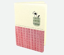 Journal Withe Fabric Cover, Pink/Off White