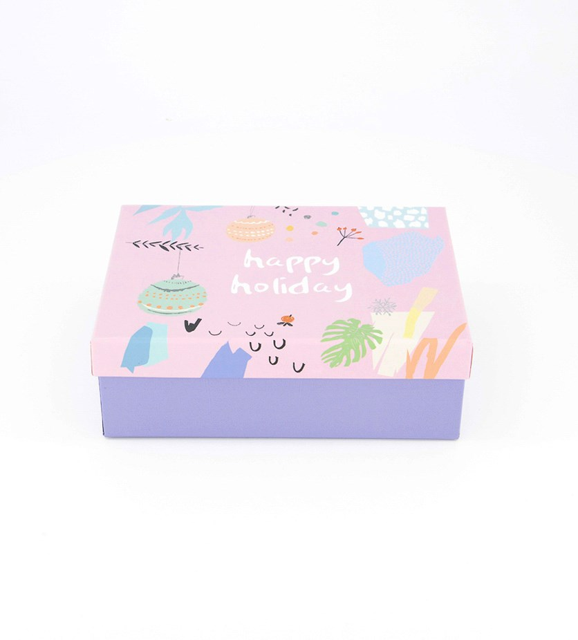Happy Holiday Gift Box, Pink Combo