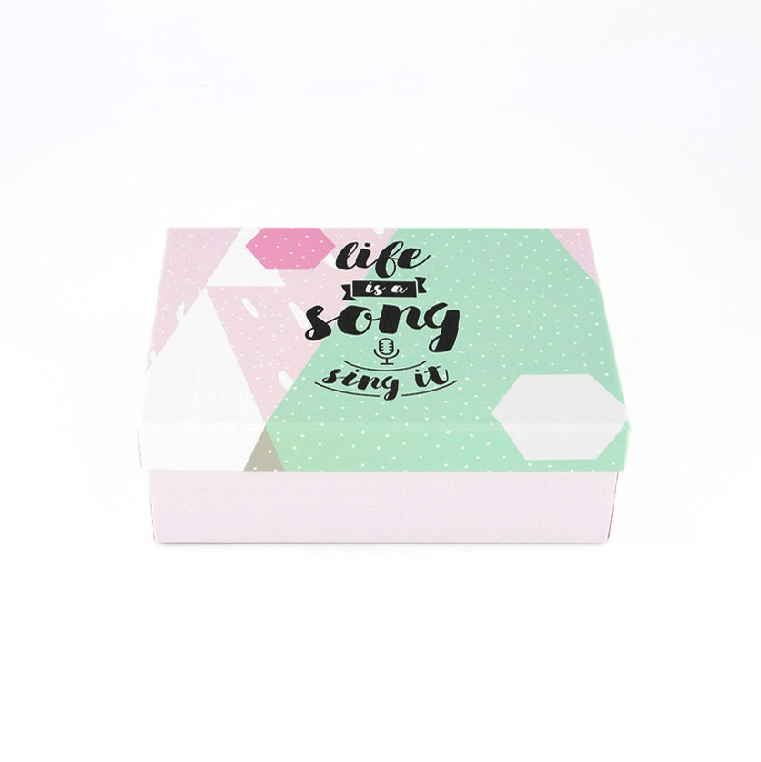 Life is A Song Gift Box, Green/Pink
