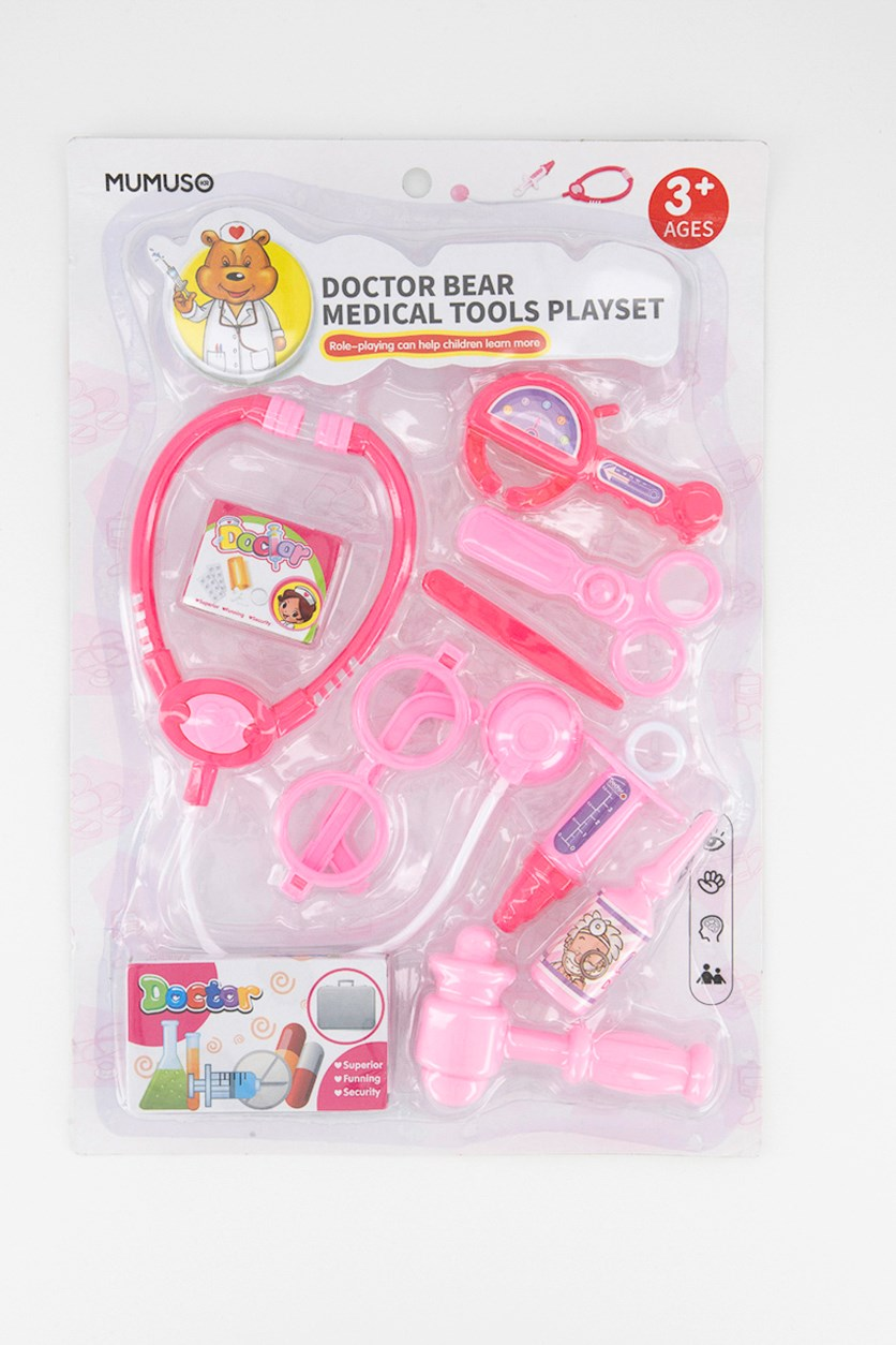 Doctor Bear Medical Tools Playset, Pink