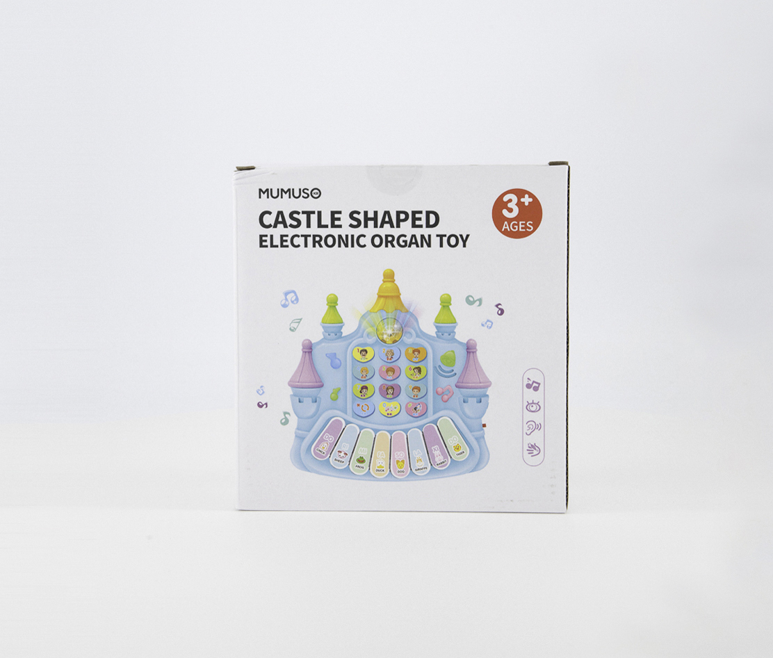 Castle Shape Electronics Organ Toy, Blue