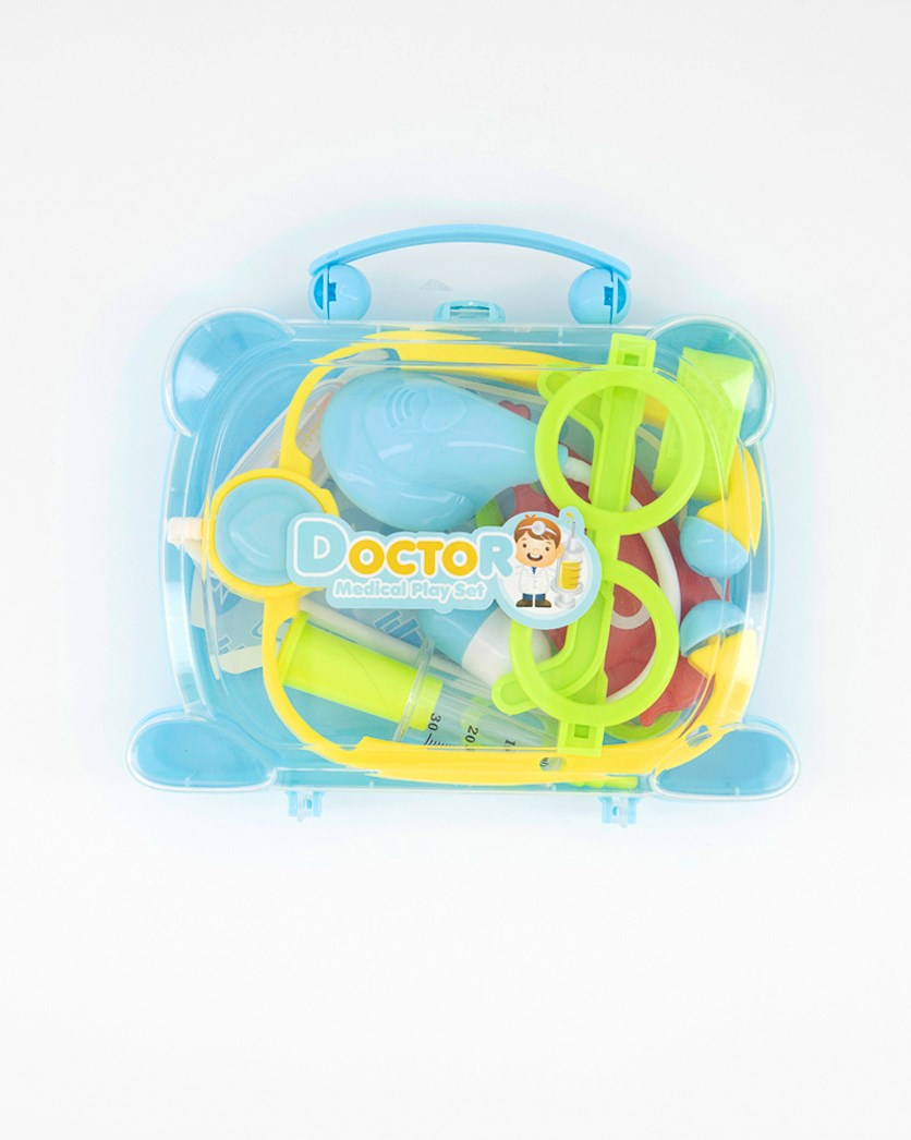 Doctor Medical Playset With Suitcase, Blue Combo